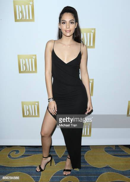 Alaya arrives to the 24th Annual BMI Latin Awards held at the Beverly Wilshire Four Seasons Hotel on March 21 2017 in Beverly Hills California