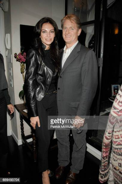 Alaya Barsano and Brett Johnson attend OCEANA New York Launch hosted by Alexander and Brenda von Schweickhardt sponsored by TIFFANY Co at Private...