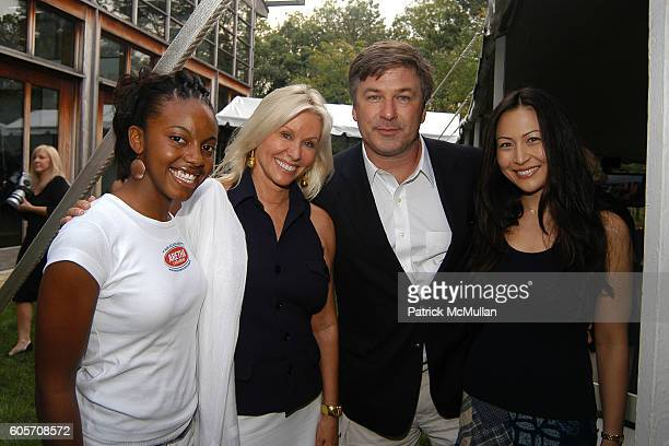 Alaya Brown Courtney Ross Alec Baldwin and Nicole Seidel attend The Inaugural Celebration to Benefit the Steven J Ross Scholarship Fund Honoured...