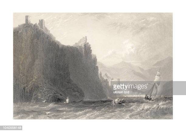 AlayaCliffs 1836 Fortified Cliffs of Alaya Coast of Caramania Turkey Engraved by HAdlard after a picture by WHBartlett published in Syria The Holy...