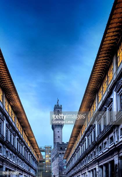 alazzo Vecchio from Uffizi Gallery courtyard