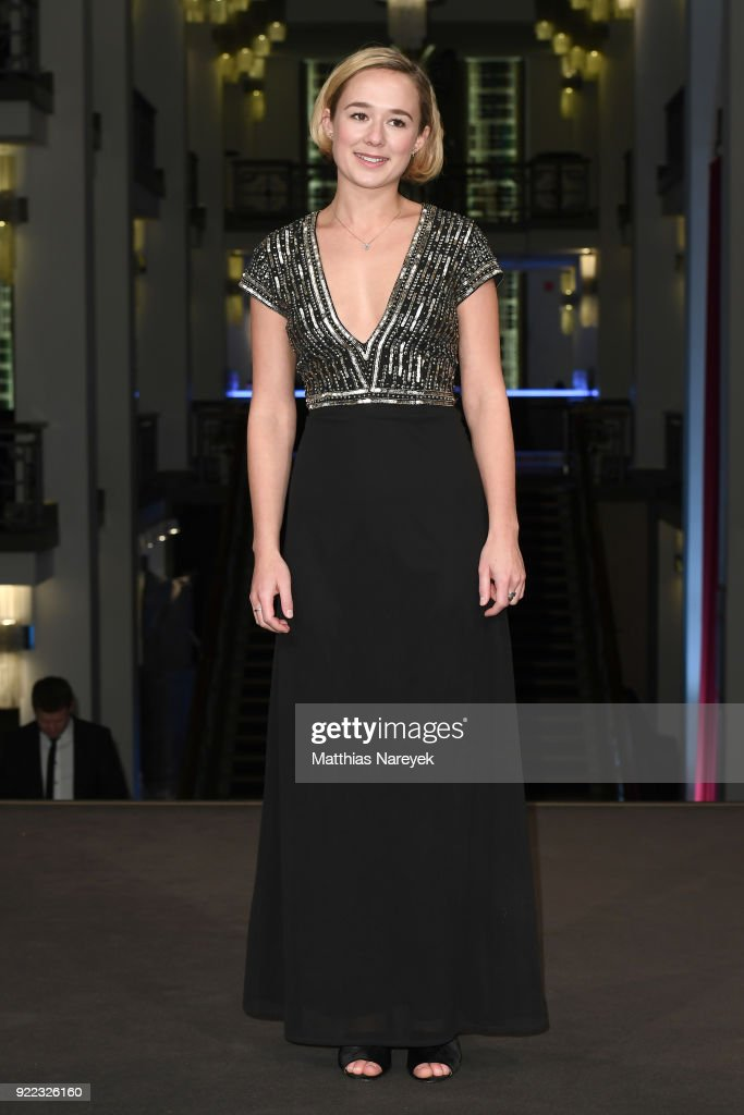 Alba August attends the 'Becoming Astrid' (Unga Astrid) premiere during the 68th Berlinale International Film Festival Berlin at Friedrichstadtpalast on February 21, 2018 in Berlin, Germany.