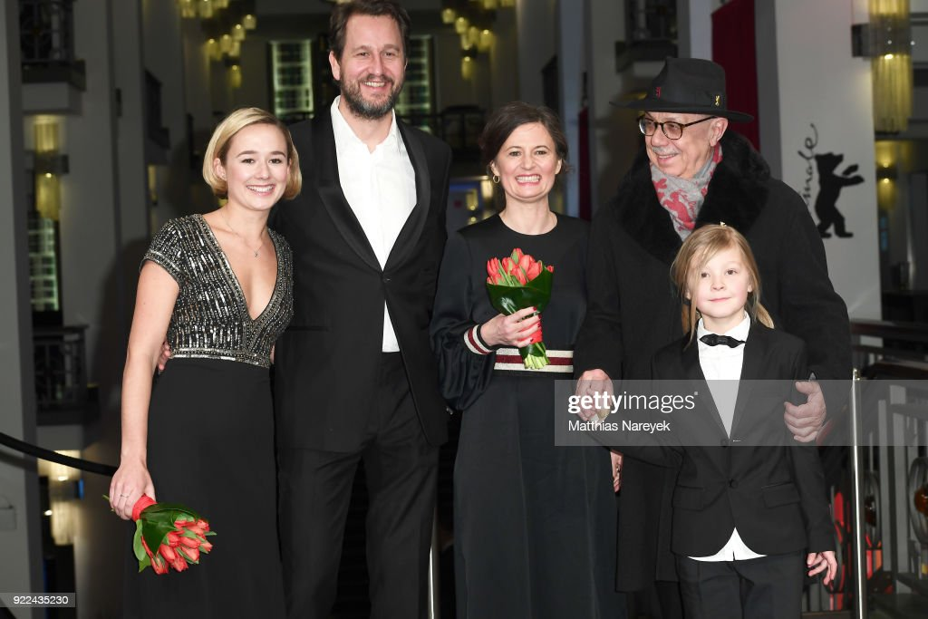Alba August, Henrik Rafaelsen, Pernille Fischer Christensen, Festival director Dieter Kosslick and Alice Stenberg attend the 'Becoming Astrid' (Unga Astrid) premiere during the 68th Berlinale International Film Festival Berlin at Friedrichstadtpalast on February 21, 2018 in Berlin, Germany.
