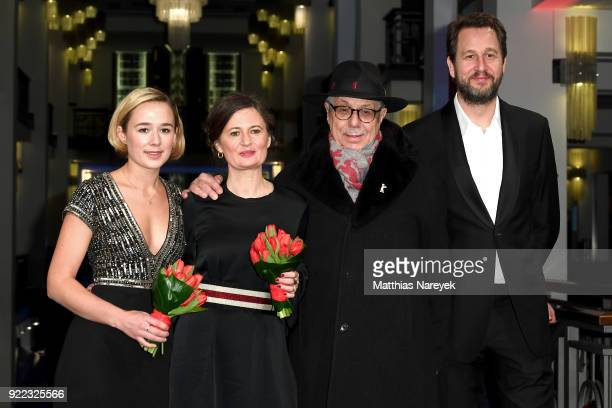 Alba August Pernille Fischer Christensen Festival director Dieter Kosslick and Henrik Rafaelsen attend the 'Becoming Astrid' premiere during the 68th...