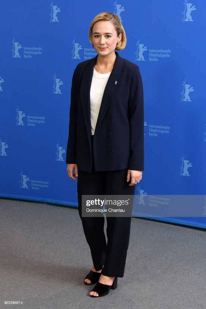 Alba August poses at the 'Becoming Astrid' (Unga Astrid) photo call during the 68th Berlinale International Film Festival Berlin at Grand Hyatt Hotel on February 21, 2018 in Berlin, Germany.