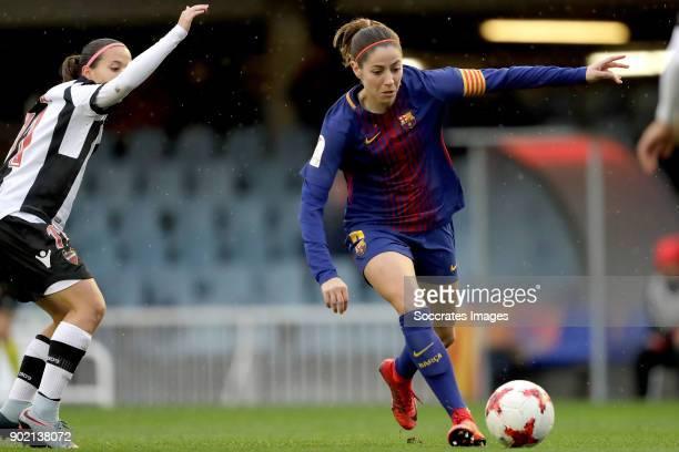 Alba Aznar of Levante UD Women Marta Torrejon Moya of FC Barcelona Women during the Iberdrola Women's First Division match between FC Barcelona v...