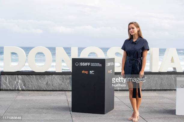 Alba Baptista attends the 'Patrick' Photocall during the 67th San Sebastian Film Festival in the northern Spanish Basque city of San Sebastian on...