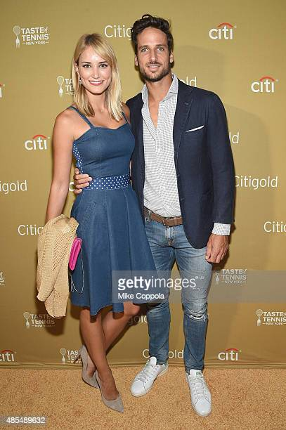 Alba Carrillo and Feliciano Lopez attend the Taste of Tennis Gala Citigold VIP Lounge during Taste of Tennis Week at W New York on August 27 2015 in...