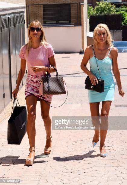 Alba Carrillo and her mother Lucia Pariente are seen on July 21 2017 in Madrid Spain