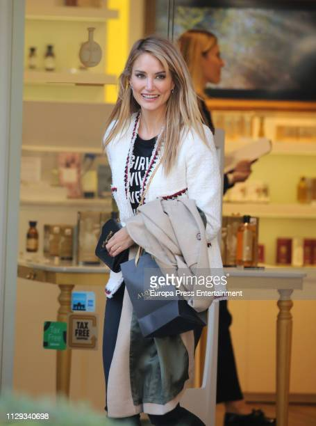 Alba Carrillo is seen on February 13 2019 in Madrid Spain
