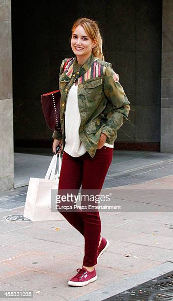 Alba Carrillo is seen on October 08 2014 in Madrid Spain