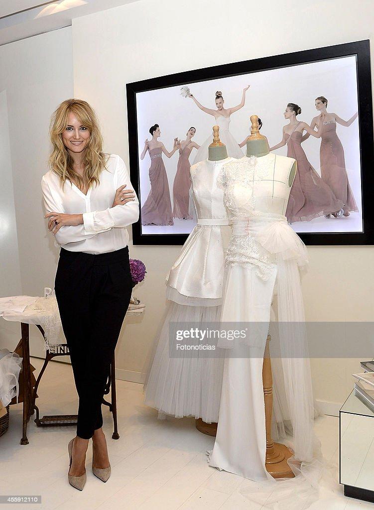 Alba Carrillo Designs Her Wedding Dress at Rosa Clara Boutique
