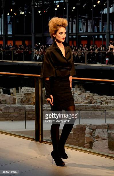 Alba Carrillo walks the runway for the Celia Vela fashion show during 080 Barcelona Fashion AutumnWinter 20142015 on January 29 2014 in Barcelona...