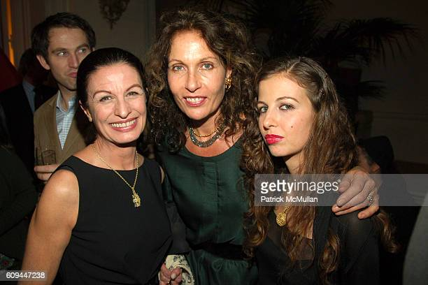 Alba Clemente Jacqueline Schnabel and Chiara Clemente attend Dinner Celebration of the US Launch of HOUSE OF WARIS and the Magic of India at...