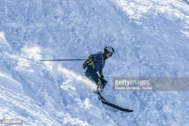 Alba De Silvestri in action in the women's senior category during Italian Team Ski Mountaineering Championships on February 14, 2021 in ALBOSAGGIA,...