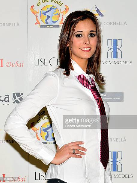 "Alba Dominguez poses at the final Spanish selection heat for the ""Top Model Of The World"" event held at the Fira de Cornella on November 28, 2009 in..."
