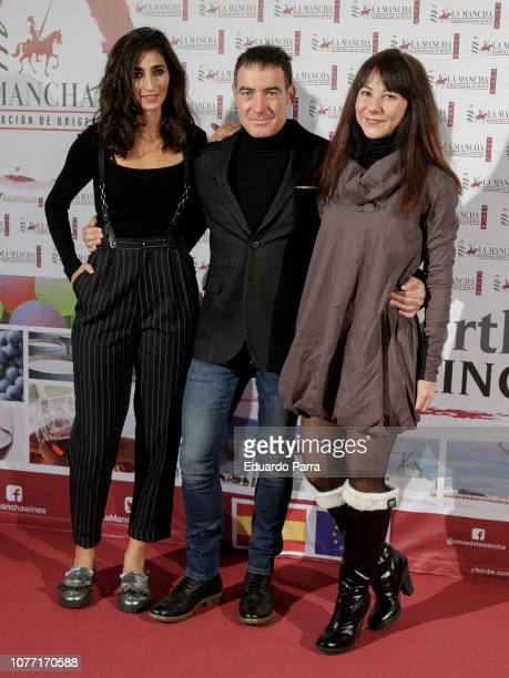Alba Flores Alex Pina and Esther Martinez attend the 'Solidarios Jovenes Awards' photocall at Fernando de Rojas theatre on December 04 2018 in Madrid...
