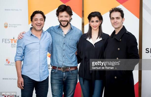 Alba Flores Alvaro More and Enrique Arce attends La Casa de Papel Photocall on March 31 2017 in Burgos Spain