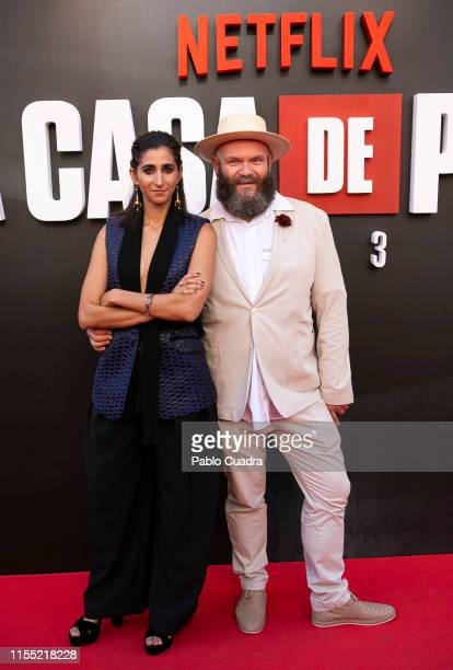 Alba Flores and Darko Peric attends the red carpet of 'La Casa De Papel' 3rd Season by Netflix on July 11 2019 in Madrid Spain
