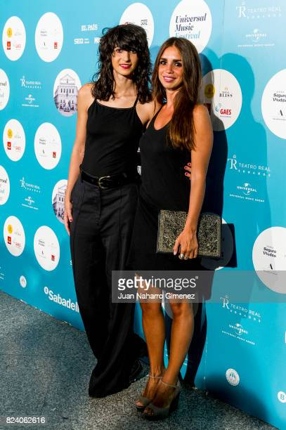 Alba Flores and Elena Furiase attend Rosaio concert at Teatro Real on July 28 2017 in Madrid Spain