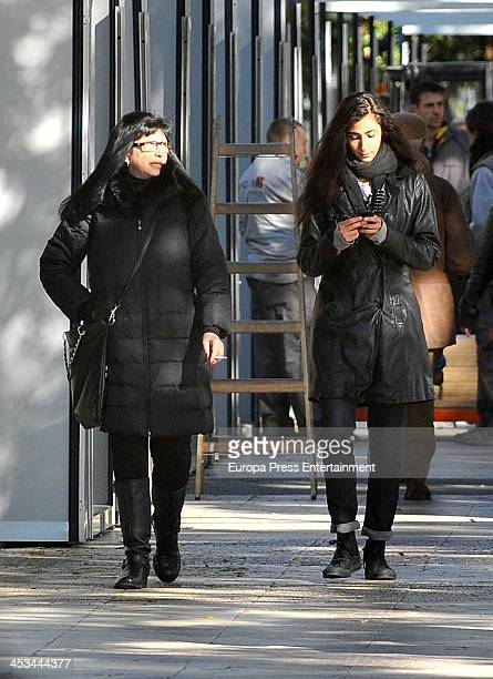 Alba Flores and her mother Ana Villa are seen on November 23 2013 in Madrid Spain