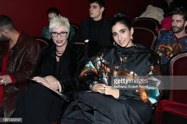 Alba Flores and her mother attend the JeanPaul Gaultier Haute Couture Spring/Summer 2020 show as part of Paris Fashion Week at Theatre Du Chatelet on...