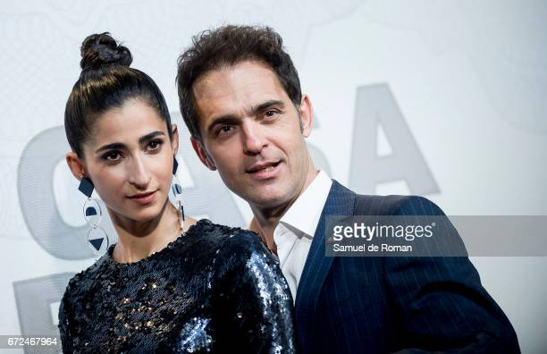 Alba Flores and Pedro Alonso attends 'La Casa de Papel' Madrid Premiere on April 24 2017 in Madrid Spain