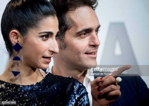 Alba Flores and Pedro Alonso attends 'La Casa de Papel' Madrid Premiere on April 24 2017 in Madrid Spain