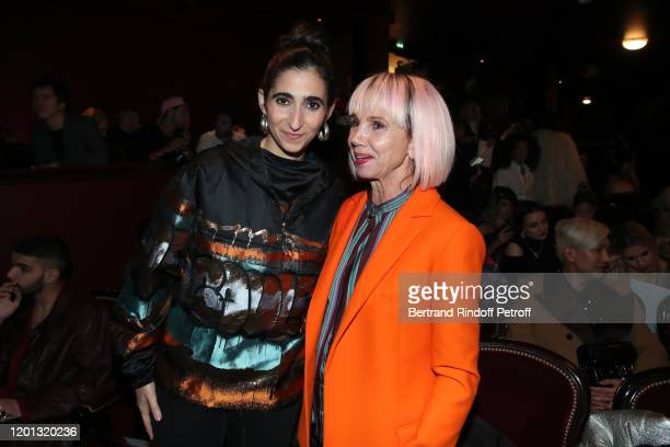 Alba Flores and Victoria Abril attend the JeanPaul Gaultier Haute Couture Spring/Summer 2020 show as part of Paris Fashion Week at Theatre Du...