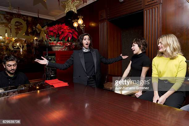 Alba Flores Anna Castillo and Kimberley Tell attend 'Drac Pack presentation at Toni 2 Piano Bar on December 15 2016 in Madrid Spain