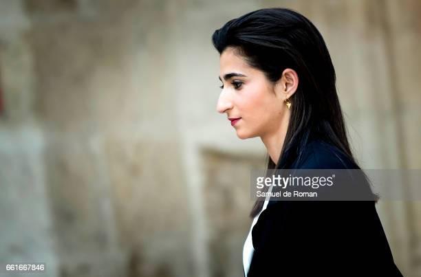 Alba Flores attends La Casa de Papel Photocall on March 31, 2017 in Burgos, Spain.