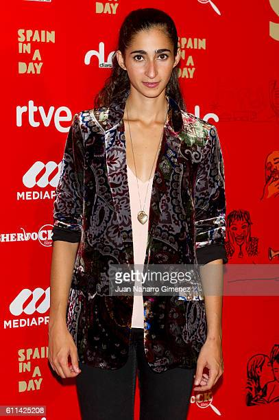 Alba Flores attends 'Spain In A Day' premiere at Verdi Cinema on September 29 2016 in Madrid Spain