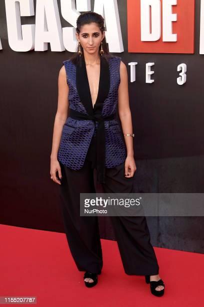 Alba Flores attends the 'La Casa de Papel' 3rd season premiere at Callao Cinema in Madrid, Spain on Jul 11, 2019