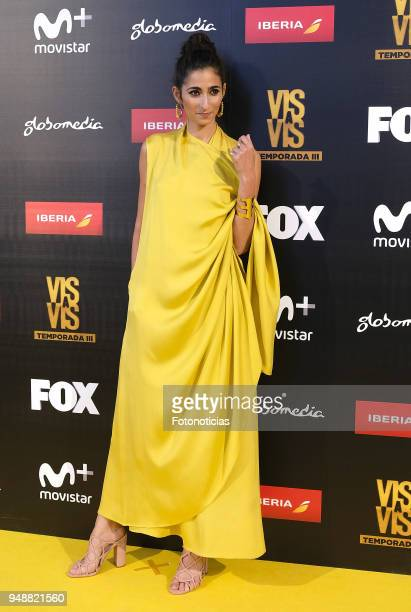 Alba Flores attends the premiere of 'Vis a Vis' at Capitol Cinema on April 19 2018 in Madrid Spain