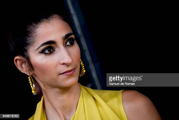 Alba Flores attends 'Vis A Vis' Madrid Premiere on April 19 2018 in Madrid Spain