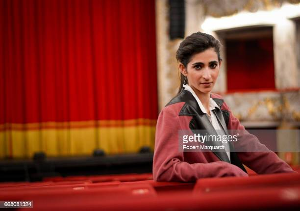 Alba Flores poses during a presentation for her latest theater production 'Drac Pack' at the Theater Tivoli on April 13 2017 in Barcelona Spain