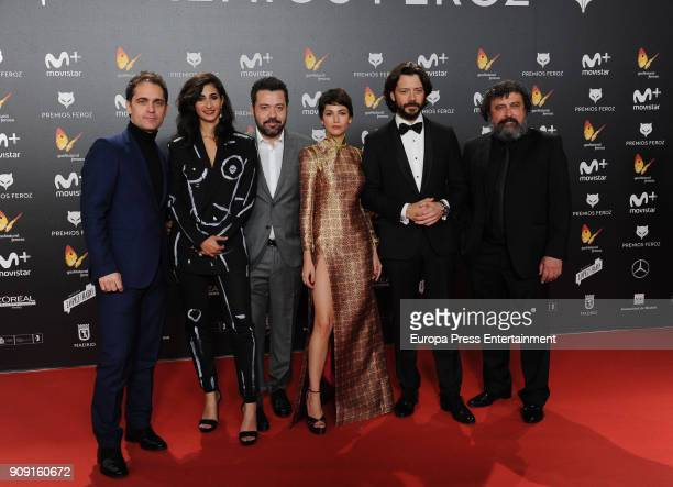 Alba Flores Ursula Corbero and Paco Tous attend Feroz Awards 2018 at Magarinos Complex on January 22 2018 in Madrid Spain