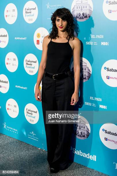 Alba Florez attends Rosaio concert at Teatro Real on July 28 2017 in Madrid Spain
