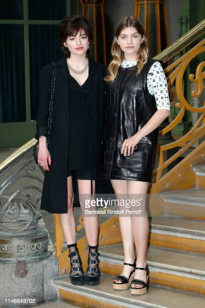 Alba Gaia Bellugi and her sister Galatea Bellugi attend the Chanel Cruise Collection 2020 Front Row at Le Grand Palais on May 03 2019 in Paris France