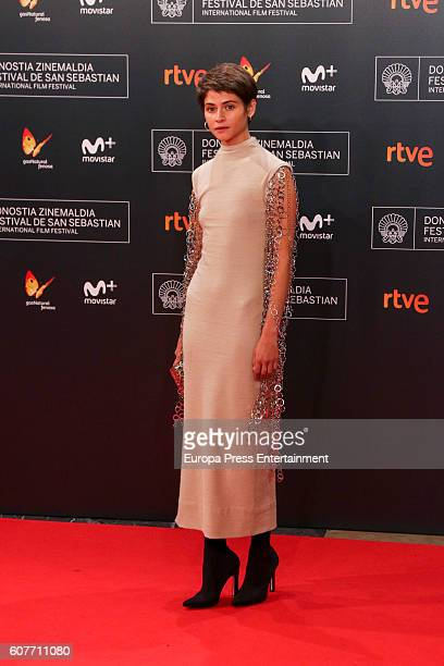 Alba Galocha attends 'El Hombre De las Mil Caras' premiere at the Kursaal Palace during 64th San Sebastian International Film Festival on September...