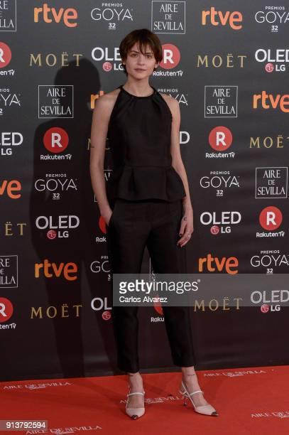Alba Galocha attends Goya Cinema Awards 2018 at Madrid Marriott Auditorium on February 3 2018 in Madrid Spain