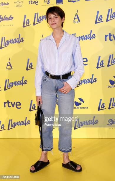 Alba Galocha attends the 'La Llamada' premiere yellow carpet at the Capitol cinema on September 26 2017 in Madrid Spain
