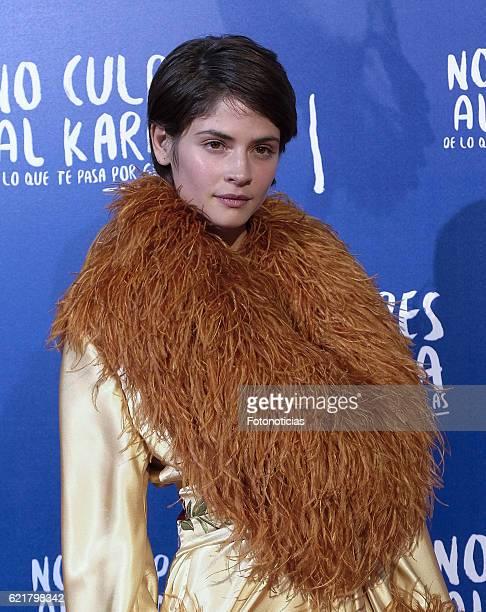 Alba Galocha attends the 'No Culpes al Karma De lo Que Te Pasa Por Gilipollas' Madrid premiere at Capitol cinema on November 8 2016 in Madrid Spain