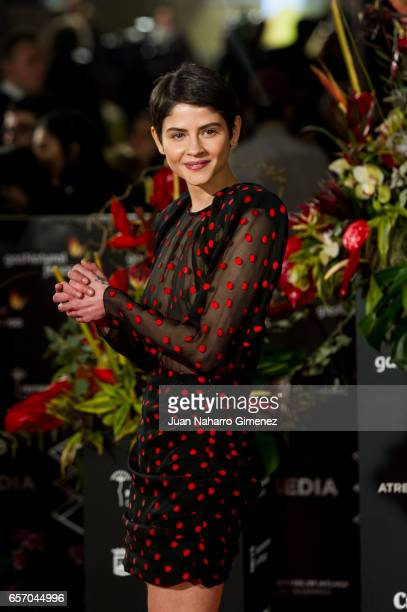 Alba Galocha attends the 'Plan de Fuga' premiere on day 5 of the 20th Malaga Film Festival at the Cervantes Theater on March 23 2017 in Malaga Spain
