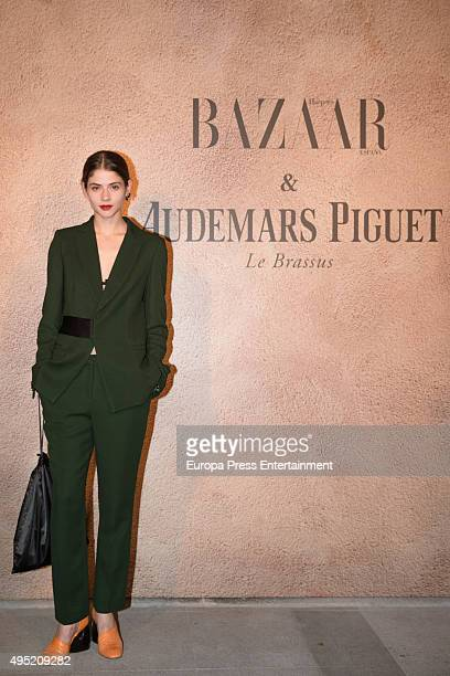 Alba Galocha attends the tribute party for Diane Vreeland hold by Harper's Bazaar on October 27 2015 in Madrid Spain