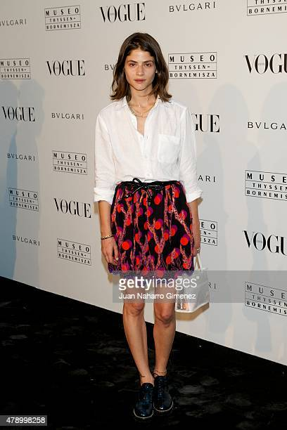 Alba Galocha attends 'Vogue Like a Painting' exhibition at Museo ThysenBornemisza on June 29 2015 in Madrid Spain