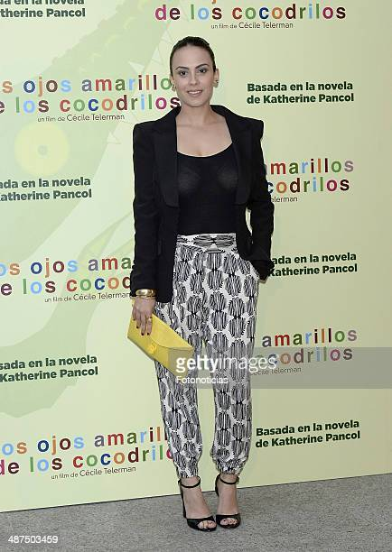 Alba Garcia attends the 'Los Ojos Amarillos de los Cocodrilos' premiere the Academia del Cine on April 30 2014 in Madrid Spain