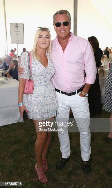 Alba Jancou and Peter Cook at the East Hampton Library's 15th Annual Authors Night Benefit on August 10 2019 in Amagansett New York