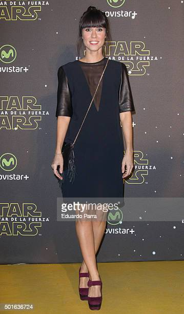 Alba Lago attends 'Star Wars The Force Awakens' at Callao cinema on December 16 2015 in Madrid Spain