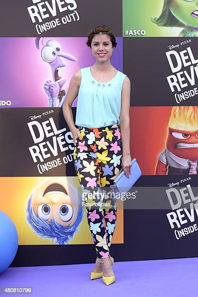 Alba Messa attends the 'Inside Out' Premiere at Callao Cinema on July 15 2015 in Madrid Spain